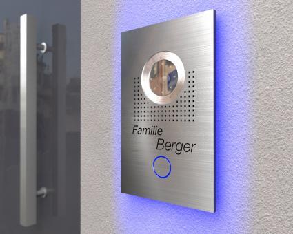 "Video-Türsprechanlage mit LED-Hintergrundbeleuchtung & Sony Kamera inkl. 1 x 7-Zoll Monitor ""High-Beam"""