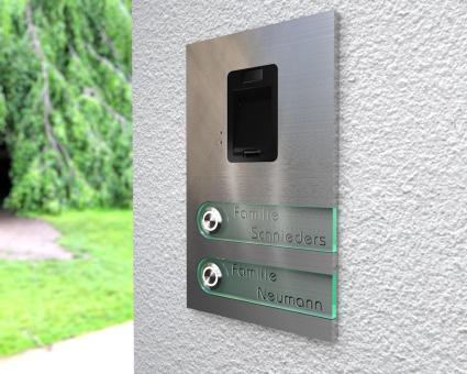"2-Familien Edelstahlklingel mit integriertem Fingerscan ""Double Scan Bell"""