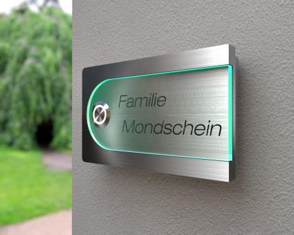 """Design Edelstahklingel mit Acrylglasplatte """"Fantastical"""""""