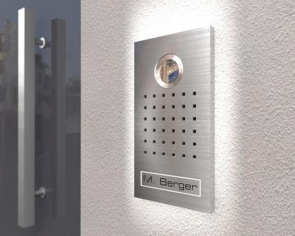"Video Türsprechanlage mit LED-Hintergrundbeleuchtung & Sony Kamera  inkl. 1 x 7-Zoll Monitor ""Gleam"""