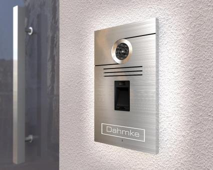 "Video-Türsprechanlage mit Fingerscan & Sony Kamera  inkl. 1 x 7-Zoll Monitor ""High-End"""